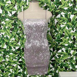 F21 Crushed Velvet Mini Dress